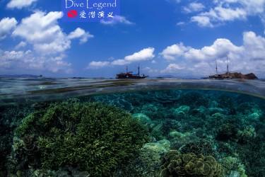 海面及水下景色