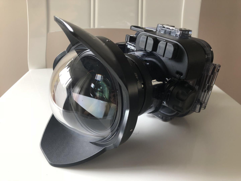 SONY黑卡原厂防水壳+外挂广角镜